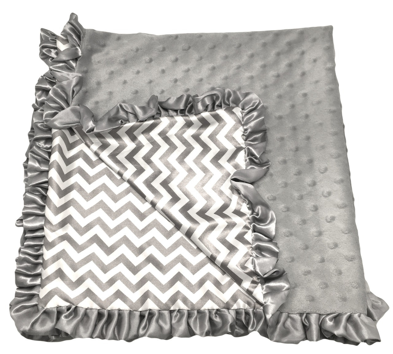 Baby Blankets Amp Accessories Grey Chevron Minky Baby