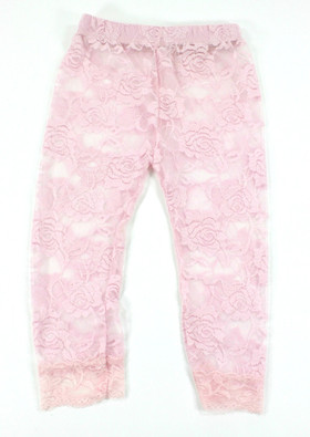 Light Pink Lace Leggings for Girls