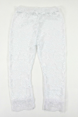 White Lace Leggings for Dance