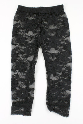 Black Lace Leggings for Toddlers