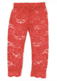 Red Lace Leggings for Girls