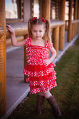 Red White Polka Dot Petti Dress
