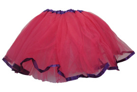 Dark Pink Purple Ribbon Lined Dance Tutu