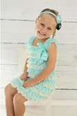 Ivory & Frozen Aqua Lace Dress