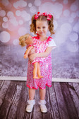 Pink with Hot Pink Hearts Pillowcase Dress (Doll's dress available for purchase separately.)