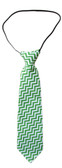 Green Chevron Neck Tie