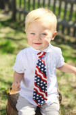 Boys red/white/blue neck tie.