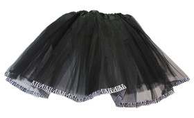 Black Zebra Animal Ribbon Lined Dance Tutu