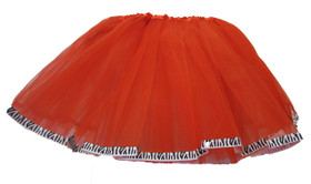 Red Zebra Animal Ribbon Lined Dance Tutu
