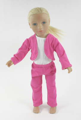 Hot Pink 3 Piece Doll Jacket and Pant Set