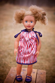 Red Zebra Navy Doll Pillowcase Dress
