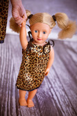 Leopard & Black Doll Pillowcase Dress (Girl's dress available for purchase separately.)