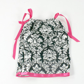 Damask & Hot Pink Doll Pillowcase Dress