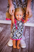 Damask & Hot Pink Doll Pillowcase Dress (Girl's dresses available for purchase separately)