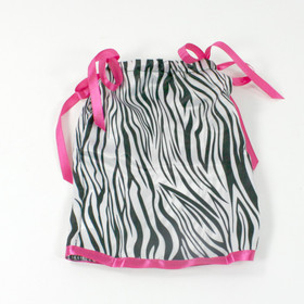 Zebra & Hot Pink Doll Pillowcase Dress