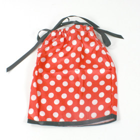 Black & Red with White Dots Doll Pillowcase Dress