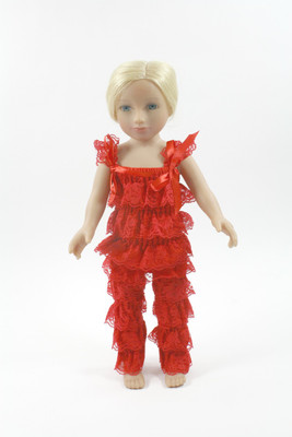 Red Doll Lace Pant and Top Set