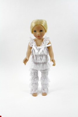 White Doll Lace Pant and Top Set