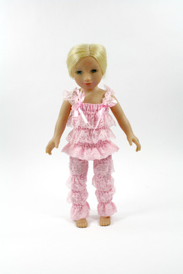 Light Pink Doll Lace Pant and Top Set