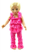 Hot Pink Doll Lace Pant and Top Set