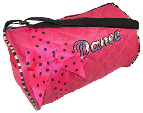 Zebra Hot Pink Dance Bag