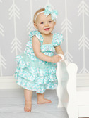 Frozen Aqua Chevron Petti Dress Toddler