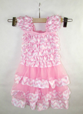 Light Pink Chevron Petti Dress