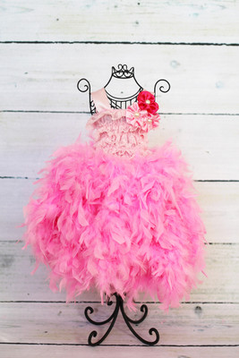 Light Pink Feather Dress