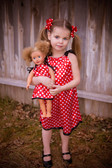 Red with White Dots Pillowcase Dress (Doll Dress Sold Separately)
