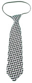 Black Chevron Neck Tie