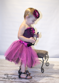 Two Tone 5 Layer Dance Tutu Hot Pink Black
