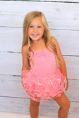 Light Pink Sequin Dance Tutu on a toddler