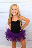 Purple Sequin Dance Tutu on a child