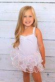 White Sequin Dance Tutu on a baby