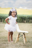 White Sequin Ruffle Dance Tutu