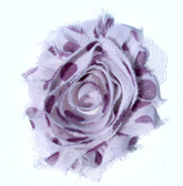 Lavender with Purple Polka Dot Shabby Flowers