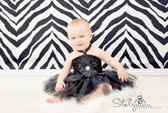 Black Baby Crochet Halter Top Tutu Dress