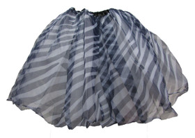 Zebra Animal Chiffon Dance Tutu