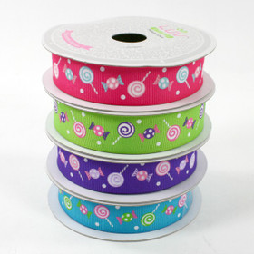 Hot Pink Candy Grosgrain Ribbon