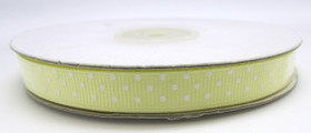 Light Yellow with White Swiss Dot Grosgrain