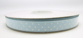Light Blue with White Swiss Dot Grosgrain