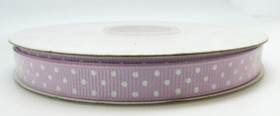 Lavender with White Swiss Dot Grosgrain