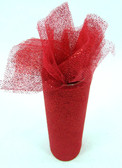 Red Glitter Tulle
