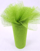 Apple Green Glitter Tulle