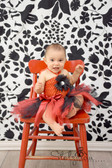Red Black Baby Crochet Halter Top Tutu Dress