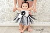Baby Crochet Halter Top Tutu Dress White Black