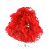 Red Lace Hat