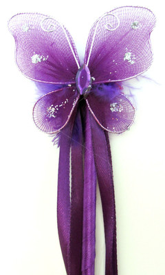 Dress Up Purple Butterfly Fairy Wands For Birthday