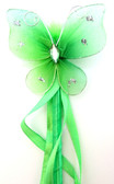 Lime Green Princess Butterfly Wand