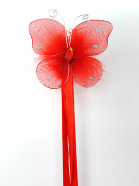 Red Princess Butterfly Wand